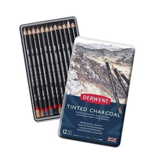 Derwent Tinted Charcoal Pencil Set